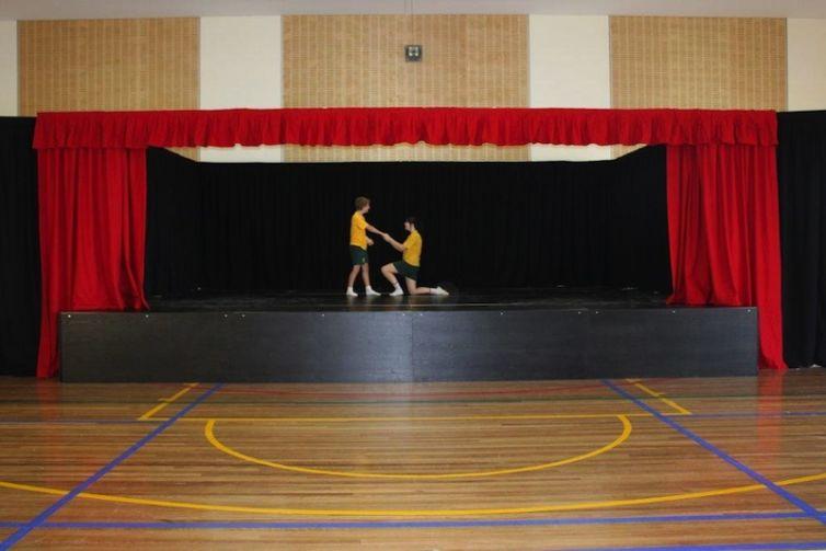 St Matthews Catholic School, Mudgee – portable stage drapes