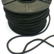 4mm 8-strand braided cotton rope, black