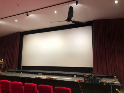 cinema screen installation